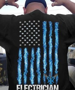 American Flag Patriotic Electrician 4th Of July