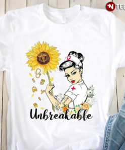 A Beautiful Nurse With A Sunflower Unbreakable