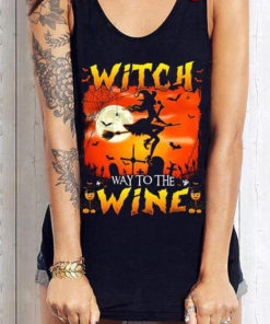 Halloween Witch Way To The Wine