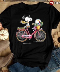Funny Snoopy Riding Bicycle Pittsburgh Steelers