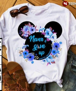 Never Give Up Diabetes Awareness Mickey Version