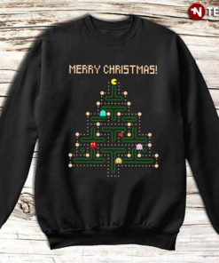 Merry Christmas Funny Pac Man Christmas Tree